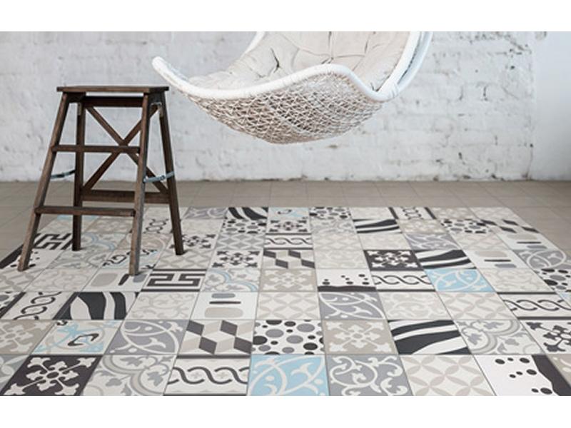 carrelage en ciment cool tapis vinyl carrelage ciment. Black Bedroom Furniture Sets. Home Design Ideas